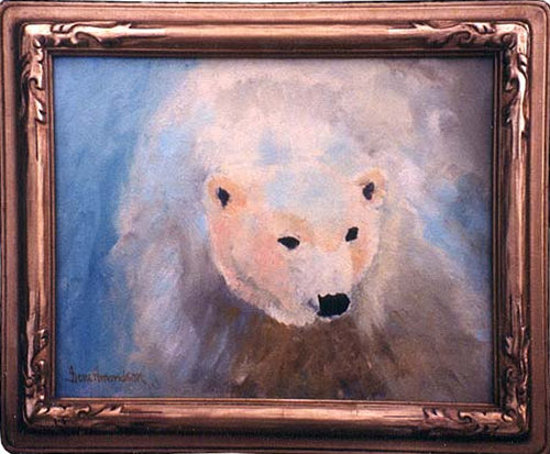 The White One an oil painting of a polar bear